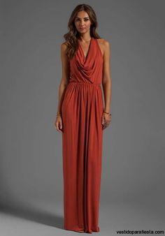I➨Elegantes y modernos vestidos largos de fiesta con escote en la espalda - 19