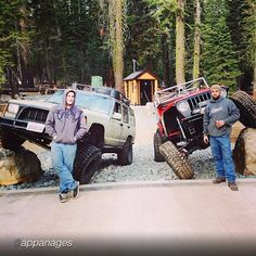 "by @appanages ""Me and @thompson311 flexing on the new bridge at Ellis creek. #rubicon #offroad #rockcrawler #jeep #jeepbeef #jeepxj #jeepyj"" #Padgram"
