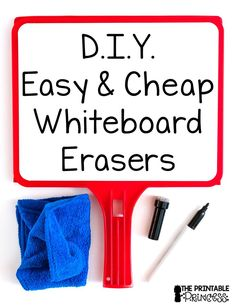 Looking for an easy and cheap way to make erasers for your classroom? They're always disappearing, so why not create your own to use as extras when doing whiteboard activities! Check out my post and learn some tips for your elementary classroom!