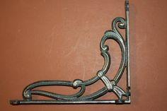Bronzed Antique Look,cast iron shelf.wall,brackets,corbels,Lg,elegant,simple, clean design,enhanced open shelving,home decor,B-48 by DecoratorsChoice on Etsy