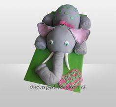 Kindertaart met olifant
