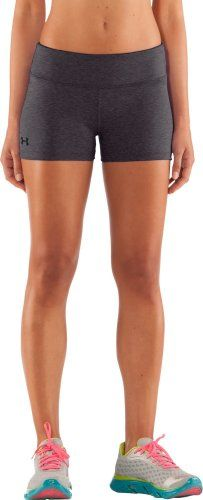 Women's HeatGear Sonic Shorty Bottoms by Under Armour Large Carbon Heather Running Workouts, Fun Workouts, Workout Gear For Women, Volleyball Shorts, Purple Zebra, Baggy Hoodie, Athletic Outfits, Athletic Clothes, Compression Shorts