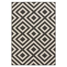 Anchor your living room seating group or define space in the den with this eye-catching rug, featuring a concentric diamond motif.  ...