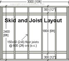 shed joist layout