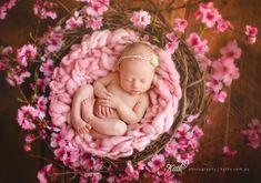 Macey as a newborn. Kath V. Photography Melbourne Newborn Photographer