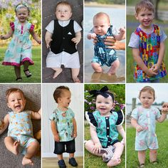 ZOO Collection for BABY 0000-4 Romper Shirt Tee Dress by Flosstyle