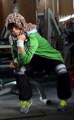 https://flic.kr/p/SXNjcn | LIBYA-WOMEN/SPORTS-BODYBUILDING | Libya's only female bodybuilding champion Fathia Al-Amamy, 48, trains in a gym for an upcoming international tournament in Belarus, in Benghazi, Libya, April 20, 2017. Picture taken April 20, 2017. REUTERS/Esam Omran Al-Fetori