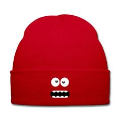 Funny Cartoon Monster Face - Crazy / Smiley Knit Cap #cloth #cute #kids# #funny #hipster #nerd #geek #awesome #gift #shop Thanks.