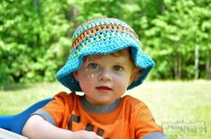 My Merry Messy Life: Crochet Sun Hat for Toddlers - Free Pattern