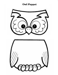 OWL pattern for lunch bag puppet. Also has a cute poem that you can put on the bag.