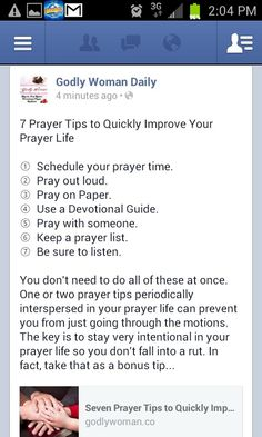 Tips for improving your prayer life.