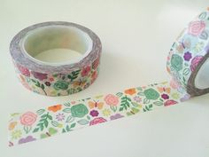 Vintage Floral Chintz Washi Tape by GoatGirlMH on Etsy