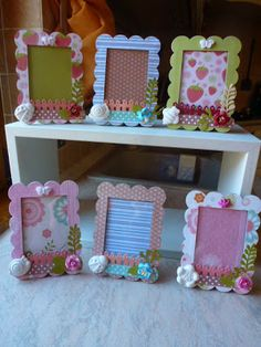 card making craft and Kids Crafts, Diy And Crafts, Popsicle Stick Crafts, Craft Stick Crafts, Frame Crafts, Diy Frame, Diy Gifts For Kids, Diy For Kids, Cardboard Crafts