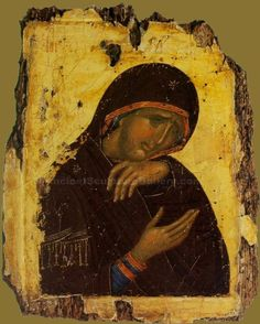 Byzantine icon  Why has Theotokos got no precious incarnate Jesus????: