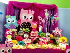 Munchies table 1st Birthday Party For Girls, 1st Birthday Girls, 2nd Birth, Baby Owls, First Birthdays, Google, Little Girl Birthday, Owls, Ideas Party