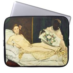 Olympia by Edouard Manet Laptop Computer Sleeves