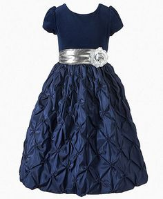 My granddaughter would look like a princess in this dress. Princess Faith Kids Dress, Little Girls Velvet Flower Dress  Web ID: 603744
