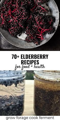Elderberry Recipes & Remedies for Food & Health It's no secret that elderberries are a superfood with many undisputed health benefits! These tasty elderberry recipes will leave you with tons of ideas of how to use these immune-boosting wild berries. Elderberry Powder, Elderberry Plant, Elderberry Medicine, Elderberry Uses, Elderberry Juice, Elderberry Jelly Recipe, Elderberry Syrup Recipe Without Honey, Cooking Recipes, Healthy Recipes
