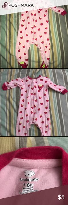 Adorable footed pjs Strawberry footed pjs. Smoke free pet friendly home Koala Kids One Pieces Footies