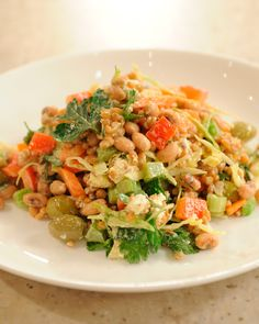 "Make a custom grain salad by mixing and matching tasty ingredients in this flexible formula from chef Pam Anderson's ""Cook Without a Book: Meatless Meals."""