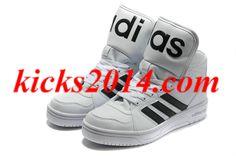 White Black Mens Jeremy Scott Adidas Instinct Hi