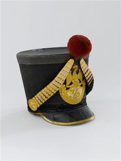 Shako of an officer of the French 36th line infantry regiment (1812)