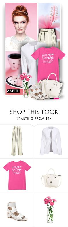 """Super Mom Letter Shirt by Zaful 38"" by christiana40 ❤ liked on Polyvore featuring 3.1 Phillip Lim and Bobbi Brown Cosmetics"