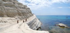 """From the Stair of the Turks (in Italian, """"Scala dei Turchi""""), on the coast of Realmonet, near Porto Empedocle (Ag), you can listen to the sound of colors. You can reach the white cliff on foot, climbing a large, limestone staircase that has formed naturally over the centuries."""