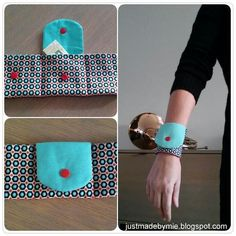 Make A Wearable Wrist Wallet Card Holder with KAM Snap Buttons (Tutorial) . - Make A Wearable Wrist Wallet Card Holder with KAM Snap Buttons (Tutorial) - Sewing Hacks, Sewing Tutorials, Sewing Crafts, Sewing Patterns, Sewing Tips, Tape Crafts, Small Sewing Projects, Sew Wallet, Card Wallet