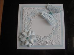 Floral butterfly Card Topper