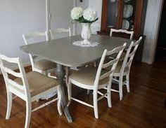 painted dining table and chairs -