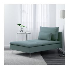 IKEA SÖDERHAMN chaise longue Hardwearing microfibre which is soft and smooth.