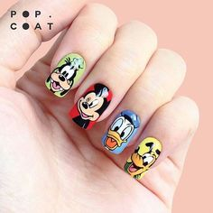 True nail ART, Disney / Mickey Mouse, Finals Duck, Goofy & Pluto @popcoat✌✌ : CHILDHOOD FRIENDS : Not stickers, all handpainted using Vetro Gel Japan. Appointment only! - Text me for menu and price - Line : vionaparamita - Whatsapp : +6287851960441 - Studio : pesanggrahan, jakbar - Available for homeservice #popcoatnails #instarepost20