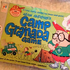Camp Granada game from 1965 by Milton Bradley on Etsy, $24.50