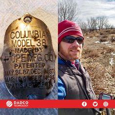 Dadco Technology Chile, te da solo una muestra de lo que puedes hallar con el detector de metales F11 de la marca Fisher Research Labs. En la foto tenemos lo hallado por Thomas H. gracias al detector F11, al salir de búsqueda a una zona de campo abierto halló una placa de bicicleta del año 1800 Recuerda, el F11 en stock solo hasta el 28 de Febrero. Fisher, En Stock, Chile, Columbia, Gold Detectors, Going Out, February, Bike, Country