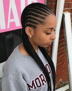 braids edges, braids n locks, braids styles for girls, braids accessories diy. Canerow Hairstyles, Braided Cornrow Hairstyles, Braided Hairstyles For Black Women, African Braids Hairstyles, Braids For Black Hair, My Hairstyle, Cornrows Braids For Black Women, Girls Braids, Cornrolls Hairstyles Braids