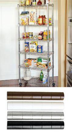 6-Shelf Storage Rack  Gain instant extra storage with this slim, rolling rack.