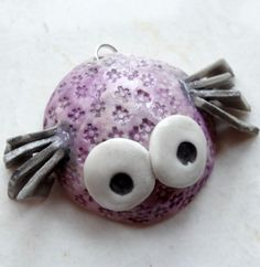 katy wroe artist made glazed purple spider insect bug porcelain silver pendant for necklace ref148 by katywroe on Etsy