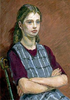 1955 Henrietta Garnett by Vanessa Bell, an English painter and interior designer and sister of Virginia Woolf. Vanessa Bell, Virginia Woolf, Dora Carrington, Clive Bell, Duncan Grant, Bloomsbury Group, Art Uk, Rodin, Your Paintings
