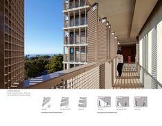 Corridor design  Charles David Keeling Apartments   AIA Top Ten