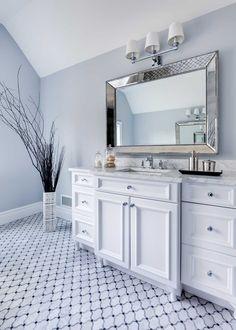 Bathrooms - JENNIFER PACCA INTERIORS  #interiordesign #homedecor #design #decor #marble #vanity #bathroomretreat  #goals #architecture #inspiration #interior #bathroom #masterbathroom #luxurybathroom #tiles #inspo #beforeandafter #newbathroom #periwinklewalls #dreambathroom #luxuryrealestate #bathroomremodel #bathroomdesign #realestate #remodeling  #dreamhome