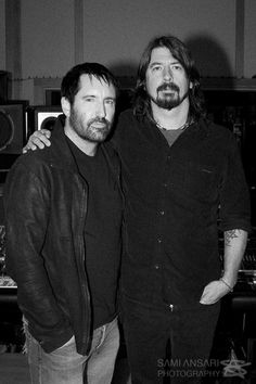 "Dave Grohl & Trent Reznor - this makes me think of the track, ""Mantra"" off of the Sound City soundtrack. Delicious!"