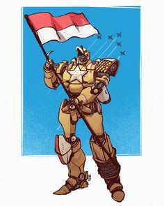 DIRGAHAYU REPUBLIK INDONESIA KE 72    Megazord aja beda beda bisa jadi satu,  masak kita nggak?   Mari menjadi warga negara yang baik.   #dirgahayuindonesia #indonesia #robot #megazord #bhinnekatunggalika #garuda #illustration #desaryuartha