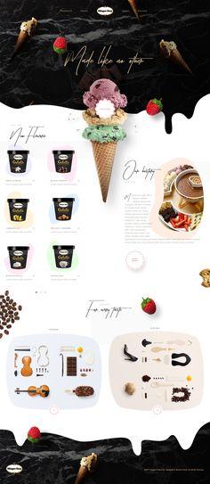 Häagen-Dazs Website Design