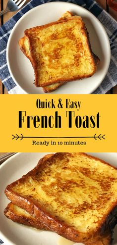Easy French Toast- Fluffy french toast made easy and in just 10 minutes. It uses… Easy French Toast- Fluffy french toast made easy and in just 10 minutes. It uses…,Cooking Easy French Toast- Fluffy. Fluffy French Toast, Homemade French Toast, French Toast Rolls, Make French Toast, Cinnamon French Toast, Simple French Toast Recipe, Ingredients For French Toast, French Toast Receta, Easy French Toast Casserole