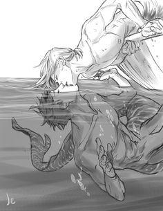 """joannaestep: """" Kisses on the calm ocean… """""""