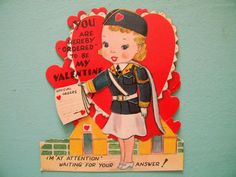 Vintage Mechanical Valentine's Day Card with by SongbirdSalvation