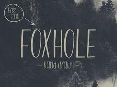FOXHOLE 手書きのサンセリフ英字フォント