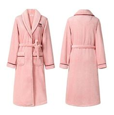 Women winter thick flannel nightgown big yards female winter coral velvet robe long section hotel bathrobes pajamas sleepwear red L