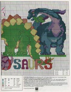 dinosaur cross stitch patterns - Google Search